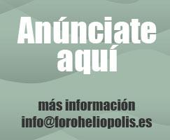 Anúnciate en la Asociación Foro de Heliópolis