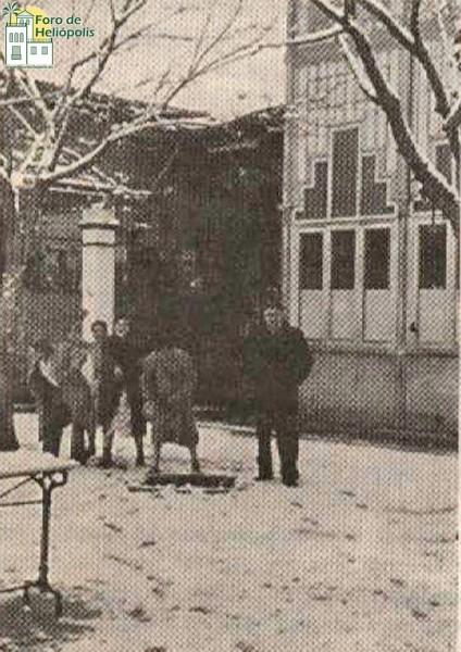 Antiguo Cine Heliópolis y bar Avelino, nevada de 1954