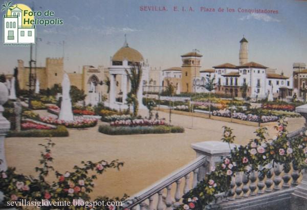 Plaza de los Conquistadores Exposición 1929 (sevillasigloveinte.blogspot.com)