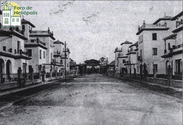 Calle Honduras con el Casino al fondo en 1929