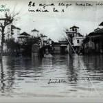 Alrededores del Avelino, inundación 1948 (cortesía Doña Engracia Álvarez,cariñosamente Gracita)