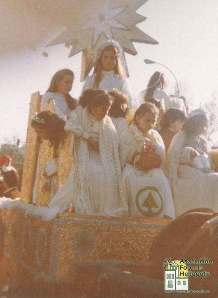 Cabalgata de Reyes por Reina Mercedes años 80 (cortesía de Alfonso León Hurtado)