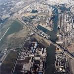 Vista aérea del puente del Quinto Centenario