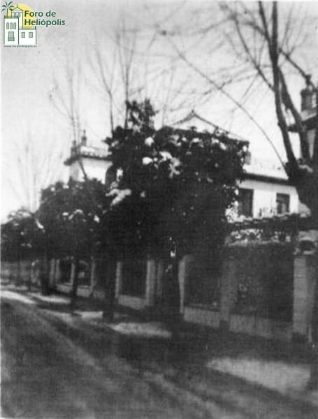 Calle de Heliopolis, nevada de 1954 (cortesía de Doña María Victoria Revilla Palacio)